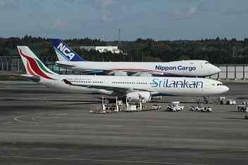 Photo gallery airport Tokyo-Narita, Japan: Srilankan Airbus and Nippon Cargo